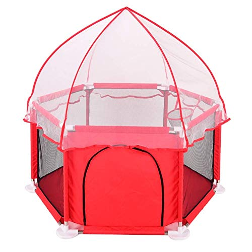 YXNZ Kids Play Tent - Baby Safety Playpen, Foldable Best Kids Play Pen with Anti-Mosquito Canopy for Home, Traveling, Beach Small Playground (Color : B)