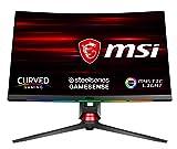 MSI Optix MPG27CQ-006DE 68,5 cm (27 Zoll) Curved Monitor (WQHD, Steelseries Gamesense, Frameless Design, OSD App, FreeSync, 1ms Reaktionszeit, 144Hz, 2560 x 1440) schwarz