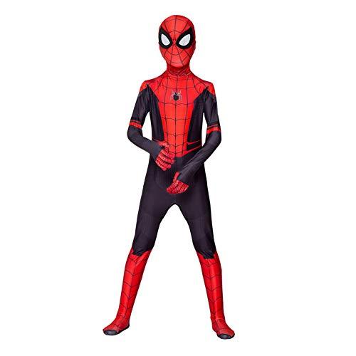 FSMJY Disfraz De Spiderman para Niños Lejos De Casa, Cosplay, Estampado 3D, Traje Elegante, Mono, Mono para Disfraces De Carnaval De Halloween,Spiderman-160~170cm