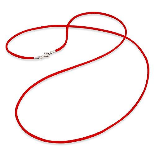 Engelsrufer Satinband Rot 925er-Sterlingsilber Länge 80 cm