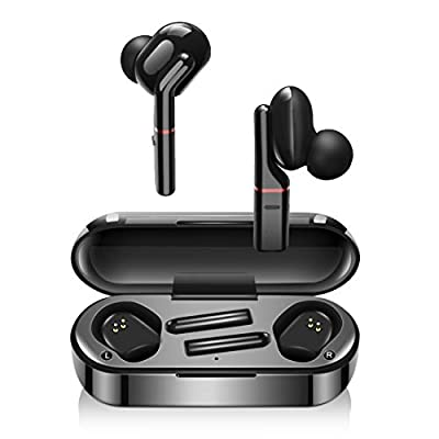 Wireless Headphones, LESHI Bluetooth 5.0 Wireless Earbuds True Noise Canceling Sport Wireless Earphones with Charging Case TWS Deep Bass Stereo IPX7 Waterproof Headset Mic 40 Hours Playtime from LESHI