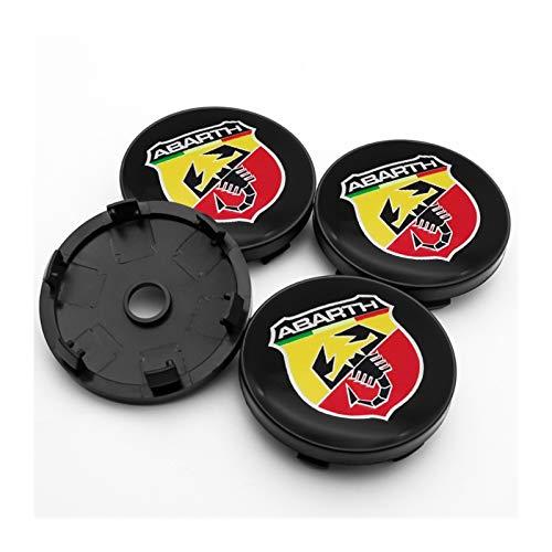 Radkörper Kappen Nabenkappen für Räder 4PCS 56mm und 60mm ABS-Kunststoff Nabenabdeckung Logo, passend for Abarth- 500 595 1100 Radmitte Nabe Nabenabdeckung und Aufkleber des Ducato ( Color : H1 )