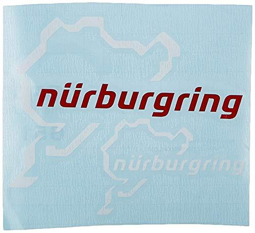 Ecoshirt 2H-AVH3-4Q3U Aufkleber Nürburgring R82 Vinyl Aufkleber Decal Sticker Decal Aufkleber Car Auto Sport Racing Weiß Rot