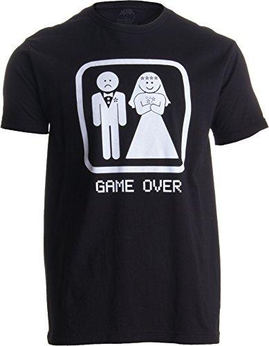 Funnwear Under New Management - Funny Bacholerette Party Wedding Eve Novelty Premium Men's T-Shirt (Large, Black)
