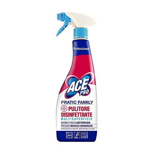 ACE Professional Spray Pulitore Disinfettante Multisuperficie Pratic Family, 750 ml