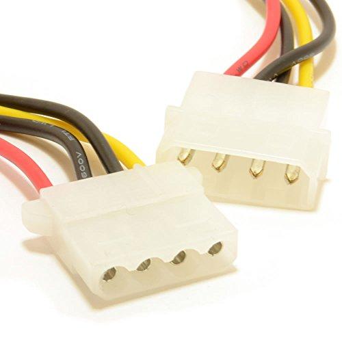 Strom Verlängerung Kabel 4 Polig LP4 Molex Männlich Zum Weiblich 50 cm [50cm]