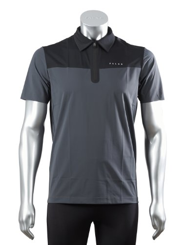 FALKE Herren Poloshirt Short Sleeved Experience, Carbon, S, 38688