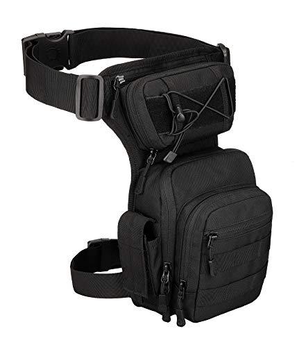Yakmoo X5 Kampfbeintasche Taktischer Militärstil Beintasche Molle System Hüfttasche wasserdichte Gürteltasche Beinbeutel für Outdoors