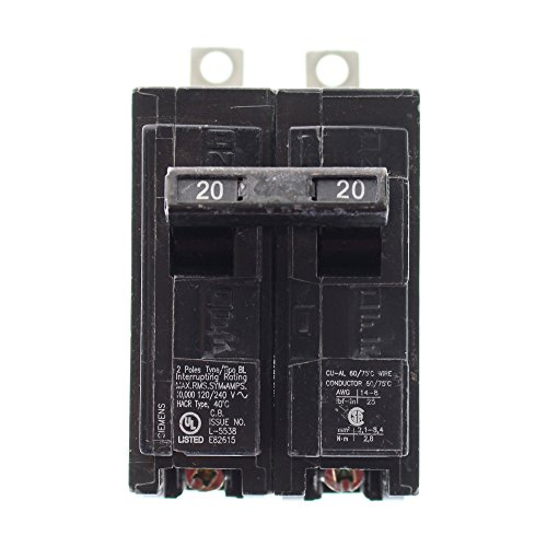 Siemens B220 Bolt-In Circuit Breaker, 120-Volt, 2-Pole, 20-Amp, 10Kaic