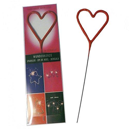 Wunderkerze Herzform rot Wondercandle Herz groß Geschenk Valentinstag Hochzeit