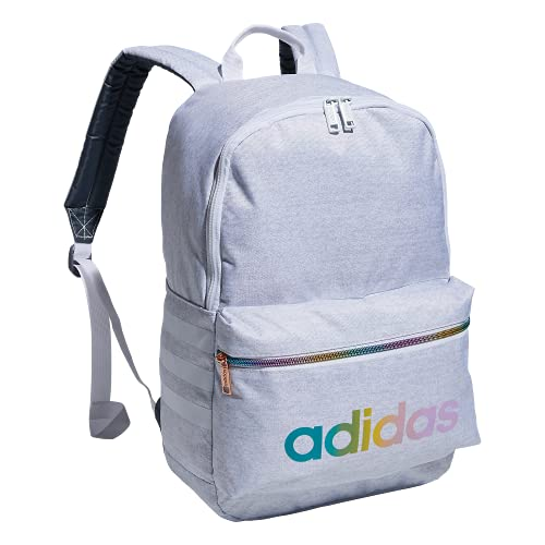 adidas Boys' Youth Classic 3S Backpack, Jersey White/Rose Gold Rainbow, One Size