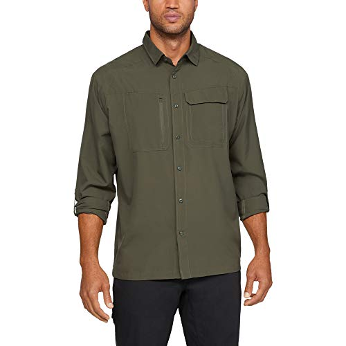 Under Armour Men's Tactical Hunter Long Sleeve T-Shirt , Marine Od Green (390)/Marine Od Green , Large