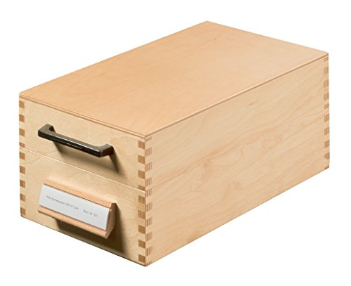Han 507 - Archivador de fichas tamaño A7 50 x 250 x 110 mm color madera