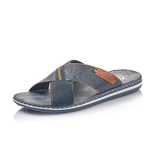 Rieker Hombre Zuecos 21098, de Caballero Mulas,Zapatilla,Sandalia,Zapato de Verano,Zapato Casual,Pazifik,43 EU / 9 UK