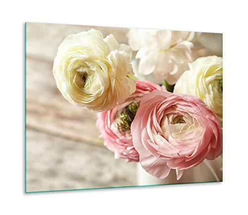 Herdabdeckplatte Ceranfeld 1 teilig 60x52 Rose Pink Kochplatten Glas Induktion
