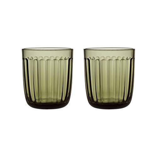 Iittala 1026950 Verre à eau, Vert mousse/transparent., Ø 9.1cm