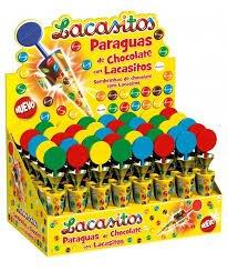 FAF NUTRICION Paraguas de Chocolate con Lacasitos - 40 Unidades