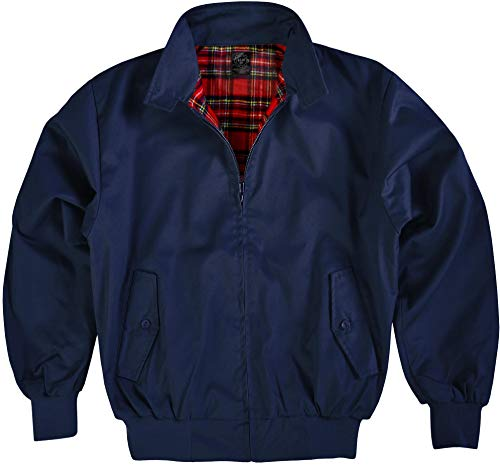 Original GearUp® Harrington Jacke English Style in 12 verschiedenen Designs wählbar Farbe Navy Größe L
