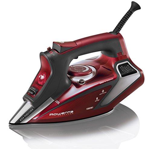 Rowenta Professional Digital LED Display Steam Iron, Advanced 1800-Watts, Red