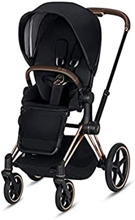 Cybex 2019 Priam 3 Complete Stroller in Premium Black with Rose Gold Frame