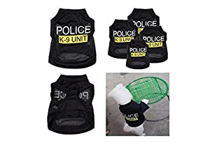 Handsome Po-lice K-9 Unit Pattern Pet T-Shirts Small Puppy Summer Comfortable Clothes Dog Apparel Costumes