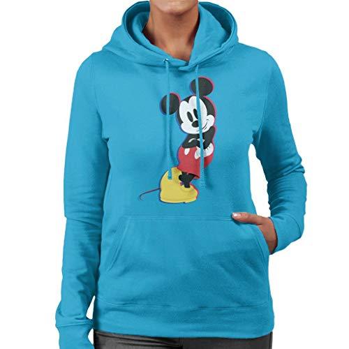 Disney Mickey Mouse Lean Women's Hooded Sweatshirt