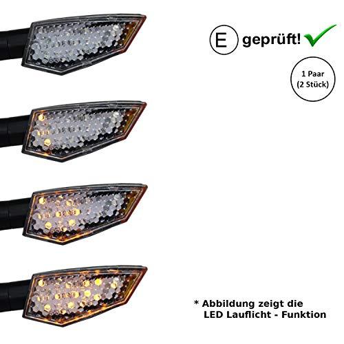 LED Blinker kompatibel mit Hyosung GV 125 GV 250 GV 650 Aquila (E-Geprüft / 2Stück) (B20)