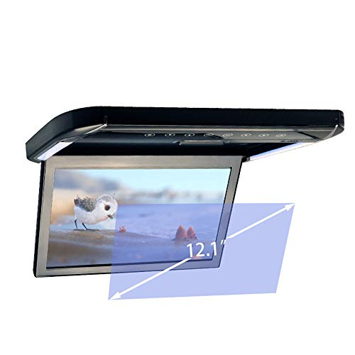 LZHYA Monitor De Techo De Coche, Car Stereo Player MP5 con Pantalla Abatible, Overhead Car TV Pantallas,MP5 Admite USB SD HDMI, TFT 800 * 480, P/N, 12 Pulgadas