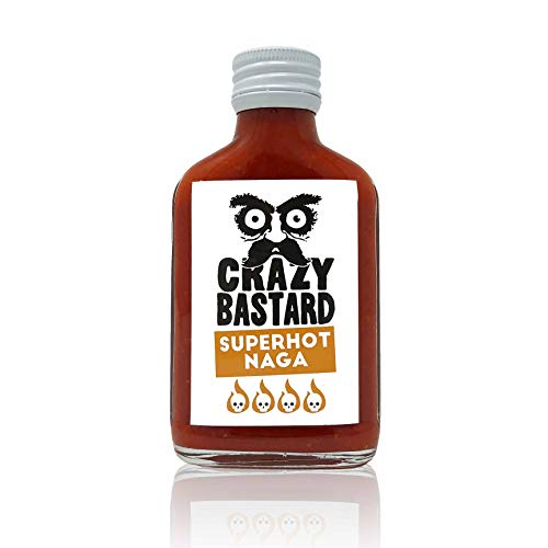 Crazy Bastard Superhot Naga - Extrem scharfe Chili-Sauce mit 50% Baut Jolokia Chili
