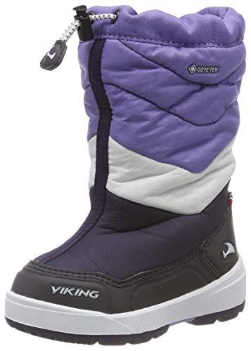 Viking Halden GTX, Botas de Nieve Unisex Niños, Morado (Aubergine/Purple 8316), 24 EU
