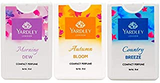 Yardley London Compact Perfume Tripack - Autumn Bloom + Country Breeze + Morning Dew 18ml (Pack of 3)