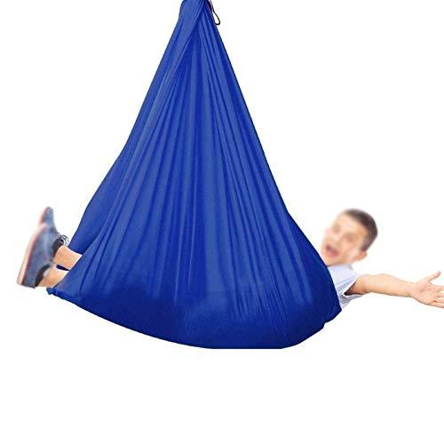 Columpio sensorial para niños y Adultos con Necesidades Especiales Hamaca para abrazar con Capacidad de Carga 200 kg Columpio Transpirable para Autismo TDAH (Hardware Incluido) (Color: Azul