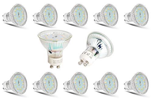 Sparpack 10x 5Watt GU10 230Volt LED Leuchtmittel 450Lumen 6500Kelvin kaltweiß für Einbaustrahler Lampe Spot Strahler Deckenlampe Leuchte Innen und Außen - SONDERPREIS