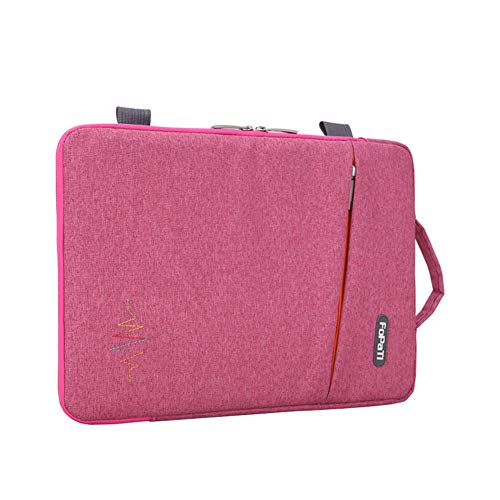 "GUOCU Funda Portátil, Maletín de Bolsa Impermeable, Sleeve Compatible con Macbook Air/Pro, MacBook Pro de 13 '', 12.3 Surface Pro, Surface Laptop,Rosado,12""(30.5X22X3cm)"