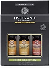 Tisserand Aromatherapy Fresh Collection Essential Oil Kit (Orange, Lemon & Grapefruit), 18 ml