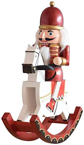 YsKYCA Estatua Escultura Decoración,Hecho A Mano Mesa Sala De Estar Cocina Oficina En Casa Accesorios De Adorno De Estatuilla Artesanía De Madera Montar A Caballo Modelado Marioneta Hogar Verde-Rojo