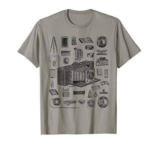 Fotógrafo de piezas de cámaras de gran formato antiguas Camiseta