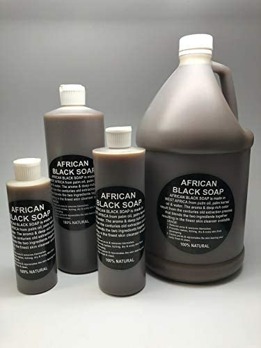 African Black Soap Liquid Soap 32 Oz 100 Natural Soap from Ghana African Shea Butter Soap Bulk product image