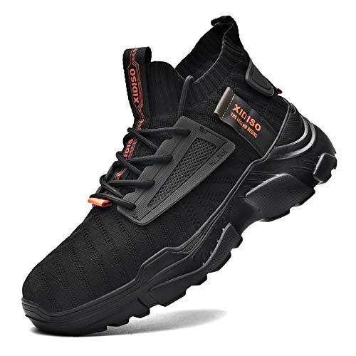 FUSHITON Turnschuhe Herren Sportschuhe Laufschuhe Joggingschuhe Sneakers Freizeit Schuhe Outdoor Straßen Traillauf Fitnessschuhe