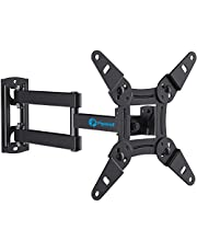 Full Motion TV Monitor Wall Mount Bracket Articulating Arms Swivels Tilts Extension Rotation for Most 13-42 Inch LED LCD Flat Curved Screen TVs & Monitors, Max VESA 200x200mm up to 44lbs by Pipishell