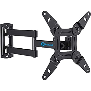 Full Motion TV Monitor Wall Mount Bracket Articulating Arms Swivels Tilts Extension Rotation for Most 13-42 Inch LED LCD Flat Curved Screen TVs & Monitors Max VESA 200x200mm up to 44lbs by Pipishell