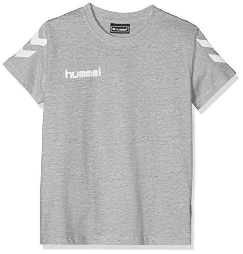 hummel Kinder HMLGO Kids Cotton T-Shirts, Grau Melange, 152