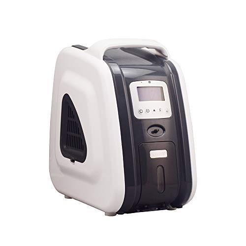 HUKOER concentrador de oxígeno doméstico Gris 1-5 litros/Minuto 90% ± 3% generador concentrador Ajustable purificador de Aire portátil de Alta pureza concentrador de oxígeno doméstico