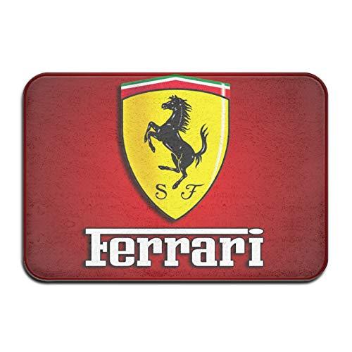 Custom made Ferrari Carpet - Felpudo para puerta delantera para interiores y exteriores, 60 x 40 cm