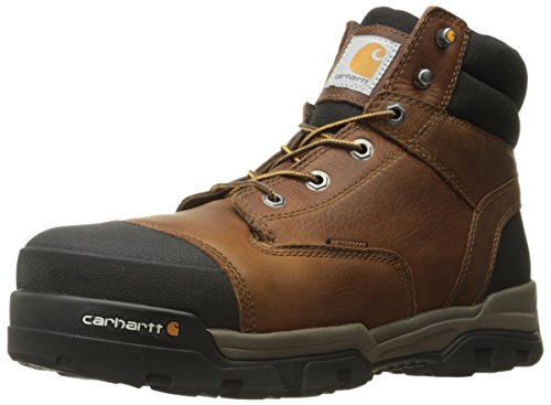Carhartt Men's Ground Force 6-Inch Brown Waterproof Work Boot - Composite Toe,  Peanut Oil Tan Leather,  10.5 M US - New For 2017 - CME6355