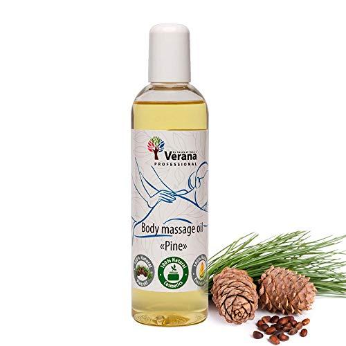 Verana Kiefer Massage-Öl, Naturkosmetik Körper-Öl, Alle Haut, Pflegende Massage, Anti Aging, Aromatherapie, Antiseptikum (small, 250 ml)