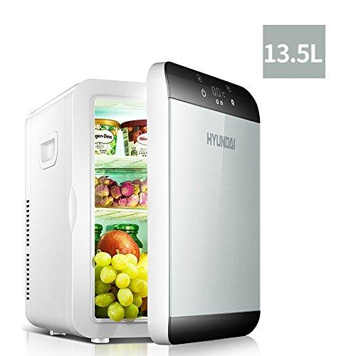 FJW Draagbare autokoelkast, 13,5 liter, hoge capaciteit 220 V, gezinsgebruik, 12 volt, automatische koeling, digitaal scherm, koelkast en koelkast