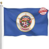 DFLIVE Double Sided Minnesota State Flag 3x5ft in God We Trust Magnolia Heavy Duty 3 Ply Polyester MN State Flags Indoor and Outdoor Use