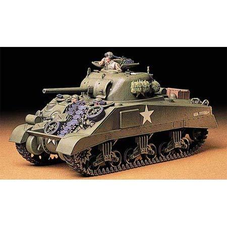 TAMIYA 35190 - 1:35 US Mitl. Pz. M4 Sherman Früh. (3), Modellbau, Plastik Bausatz, Basteln, Hobby, Kleben, Plastikbausatz
