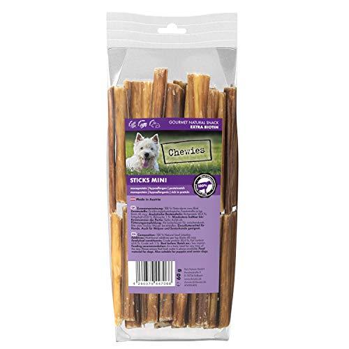 Chewies Sticks Mini Rind Kaustangen - Hundeleckerli für große und kleine Hunde, wie Spaghetti Leckerlie Hundesnacks